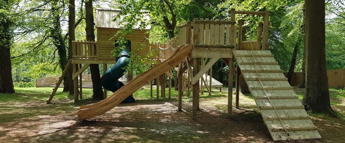 Play platform With Tree House in the Distance