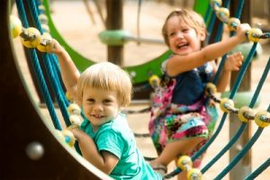 Outdoor play activities can help with bonding between friends and family
