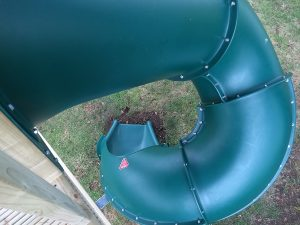 double tower tube slide