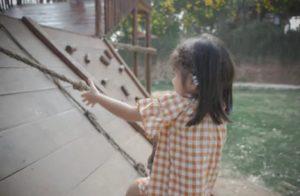 climbing wall in garden