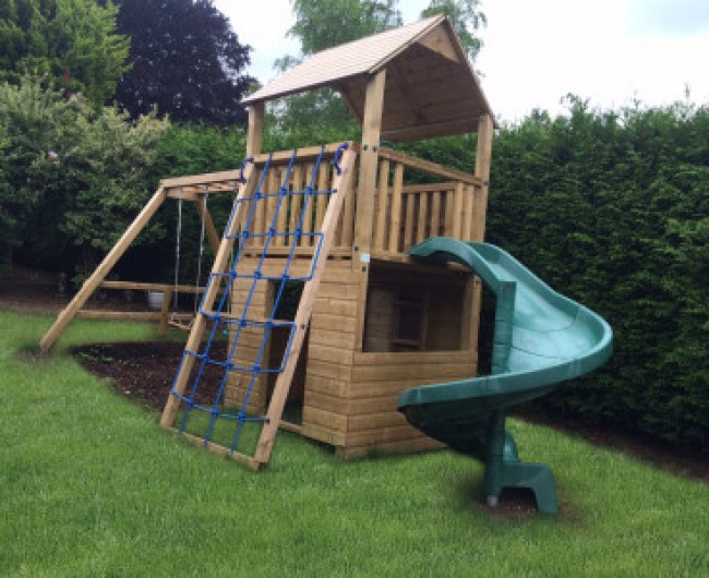 Single Tower Climbing Frames Archives - Wooden Climbing Frame & Tree on wood slides, roller bearing slides, tree houses for adults, park slides, easter slides, office slides, tree houses for girls, tree themed playgrounds,