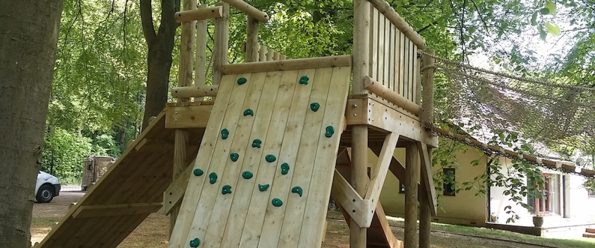 Climbing Wall on Play Platform